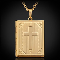 Women's Pendant Necklaces Lockets Necklaces Pendants Platinum Plated Gold Plated Cross Fashion Silver Golden JewelryWedding Party Daily
