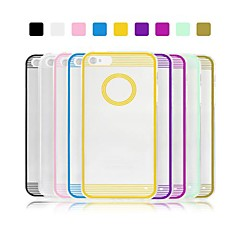 Angibabe 0.3mm Circle Acrylic Transparent TPU Phone Back Cover for iPhone 4/4S (Assorted Colors)