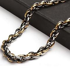 Colares em Corrente Jóias Aço Titânio Original Moda Personalizado Dourado Jóias Para Diário Casual 1peça