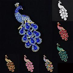 여성 멋진 파티 보석 모조 다이아몬드 공작 공작 브로치 브로치 핀 (더 많은 색상)
