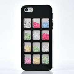 LUXURY Rhinestone Twelve Squares Back Cover Case for iPhone 4/4S(Assorted Colors)
