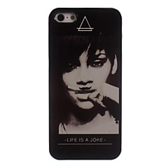 Woman Design Aluminum Hard Case for iPhone 5/5S