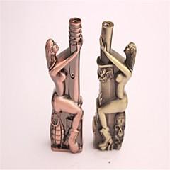 nueva extrañas granadas belleza abrazo cuchillo serie de bronce encendedores a prueba de viento juguetes