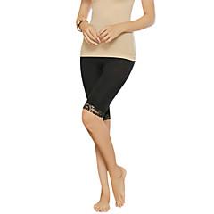 Formet beklædning Åndbarhed / Påførelig / Anti-Fnug Nylon / Spandex / Chinlon Glat / Blonde-trimmet Bund Knælængde Medium Talje Medium