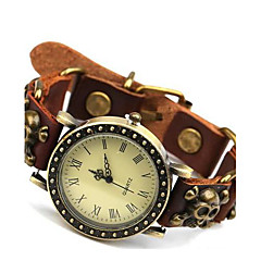reloj de pulsera de cuero retro simplicidad de los hombres