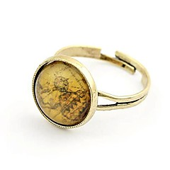 Ancient Map Pinky Adjustable Ring