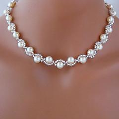 shixin® collar de novia blanco perla hermosa clásico (1 unidad)