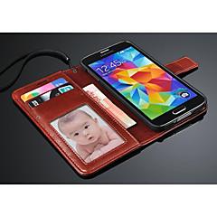 กระเป๋าสตางค์หรูหรากรณีหนังfashion®กับผู้ถือบัตรสำหรับ i9600 Samsung Galaxy S5