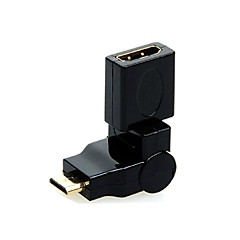 360 Degree Rotating 90 Angle Mini HDMI Male to HDMI Female Convertor Adapter