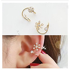 Fashion Diamond Snowflake  Alloy Ear Cuff (Gold,Silver) (1 Pc)
