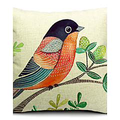 szép madár Pamut / vászon dekoratív párna fedél