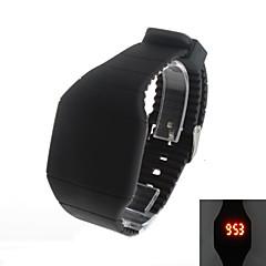 Men's Super Fashion  LED Square Rubber Wrist Watch Cool Watch Unique Watch