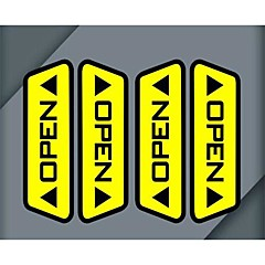 Lot Car Door Open Reflective Stickers Warning Accord Pedestrians Safety Driving Effect Each Car Necessary Choice (4pcs)