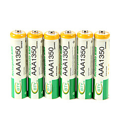 1350mAh BTY Ni-MH AAA 1.2V Rechargeable Battery 6pcs