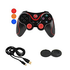 trådlösa bluetooth doubleshock gamepad spelkontroll + USB-laddare kabel + -knappen film till Sony ps3 PlayStation3