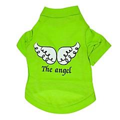 Psy T-shirt Zielony Ubrania dla psów Lato Wiosna/jesień Anioł i Diabeł Codzienne