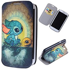 Cartoon Rabbits Pattern Full Body Case with Stand PU Leather Case for Samsung Galaxy S3 I9300