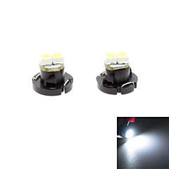 T4.2 0.5W 2x3528 SMD LED 30lm 6000K White Light Bulb for Car Dash Board Cluster Gauges Instrument Lamp(DC 12V , 2-Pack)