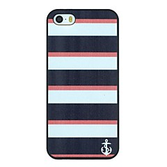 Stripe And Anchor Pattern PC Hard Back Cover Case for iPhone 5/5S
