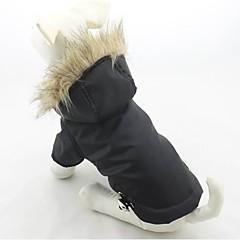 Pisici / Câini Haine / Hanorace cu Glugă Roșu / Verde / Albastru / Mov / Negru Îmbrăcăminte Câini Iarnă Solid Keep Warm / Αντιανεμικό