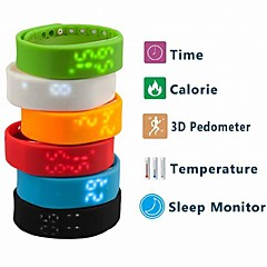 Men's Watch Sports Multifunctional USB Digital Pedometer Calorie Counter Temperature  Measurement