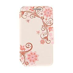 equilíbrio kinston de pasta de flores de diamante padrão de couro pu caso de corpo inteiro com suporte para iPhone 5 / 5s