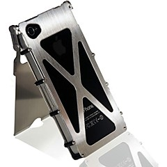 360 Degree Flip-open Metal Full Body Case with Stand for iPhone 4/4s