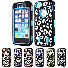 3-in-1 Design Sexy Leopard Pattern Hard Case with Silicone Inside Cover for iPhone5/5S (Assorted Colors)