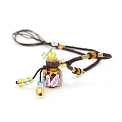 Fashionable Glass esEsence Oil Bottle Necklace Aromatherapy Bottles Pendant Necklace(Assorted Color)