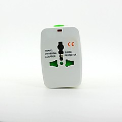 adaptador de energia universal de viagem com proteção contra surtos