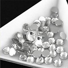 2.7-2.9mm (hvide) flad ryg rhinestones (telefon skønhed) søm bedazzle 100 stykker