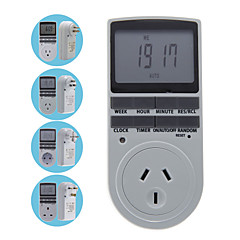 programmeerbare eu / au / us / uk plug digitale timer schakelaar socket lcd display 24 uur 7 dagen per week de tijd controller outlet
