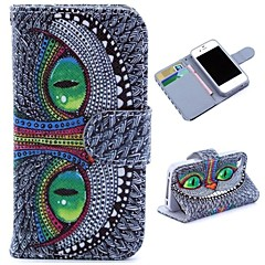 Cool Owl Pattern Wallet Style Flip Stand TPU+PU Leather Case for iPhone 4/4S