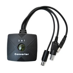 3-in-1 PSX / PS2 a Xbox / PC Adapter USB / convertitore cavo gamecube per controller via cavo ps2