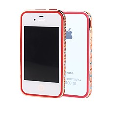 SHENGO™ Luxury Crystal Rhinestone With TPU Insert Protection Rose Gold Metal Case for iPhone 4/4S(Assorted Colors)