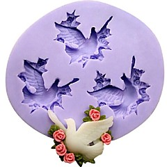 Three Holes Pigeon Fondant Cake Chocolate Resin Clay Candy Silicone Mold,L8.8m*W7.9cm*H1.3cm