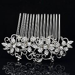 8.6cm Eleghant Flower Hair Comb Tiara Wedding Bridal Jewelry for Party