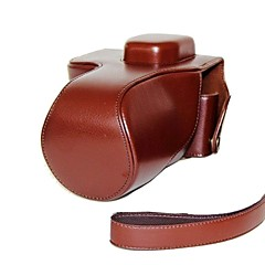 Dengpin® Leather Protective Camera Case Bag Cover Litchi Pattern with Shoulder Strap for Sony Alpha A7 A7R ILCE-7R
