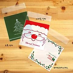 10st voedsel zelfklevende pakket voor de kerstboom bakken tas partij (willekeurige soort)