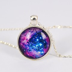 Women's Galaxy Star Time Gemstone Necklace