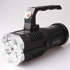 LT-BG Waterproof 3-Mode 4xCREE XM-L2  LED Flashlight (3500LM,4x18650,Black)