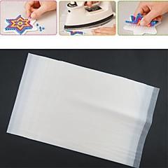 10pcs λευκό χαρτί σιδέρωμα για χάντρες ασφάλεια hama diy safty παζλ για τα παιδιά σκάφος (23x19x0.1cm)