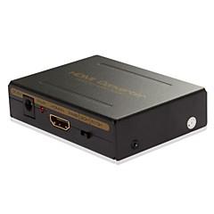volle HD1080P HDMI-Eingang auf HDMI SPDIF-R / L-Audio-Decoder-Ausgang Konverter-Box-Adapter, unterstützt 5.1 / 7.1 mit Audio EDID