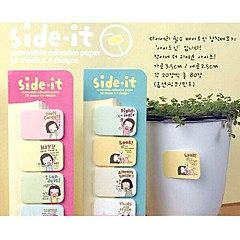 Multi-function Cute Girl Self-Stick Notes(Random Color)