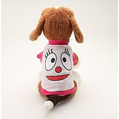 Perros Camiseta Azul / Rosado Ropa para Perro Verano Caricaturas Adorable / Casual/Diario