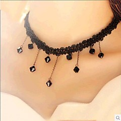 Women's Choker Necklaces Lace Resin Drop Fashion Black Jewelry Wedding Party Daily Casual 1pc