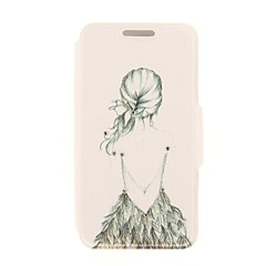 caso de corpo inteiro kinston artístico padrão figura diamante colar de couro pu com suporte para o iPhone 5 / 5s