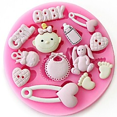 Baby Girl Fondant Cake Chocolate Resin Clay Candy Silicone Mold
