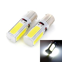 Marsing 20W 1156 1500lm 6500K 4-COB LED Cool White Car Brake Light / Foglight - (12V / 2 PCS)