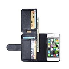 nuovo portafoglio in pelle casi di corpo pieno per iPhone 5 / 5s (colori assortiti)